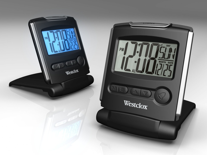 Westclox Folding Travel Alarm Clock 72028