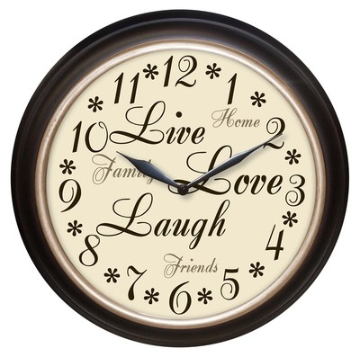 Westclox Live Love Laugh Wall Clock 12