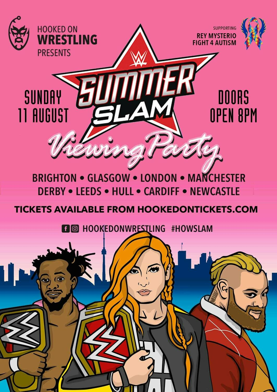 LONDON WWE SummerSlam 2019 Viewing Party