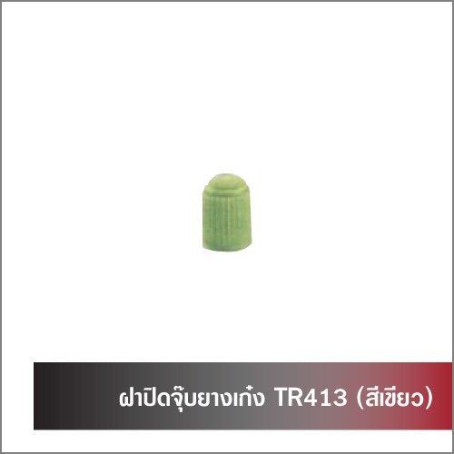 ฝาปิดจุ๊บยางเก๋ง TR413 (สีเขียว)