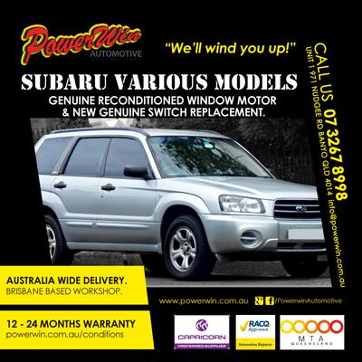 Reconditioned Genuine OEM Subaru Window Motors for various models.