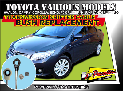 Toyota Avalon, Camry, Corolla, Echo, Land Cruiser and  more Transmission shift cable end bush.