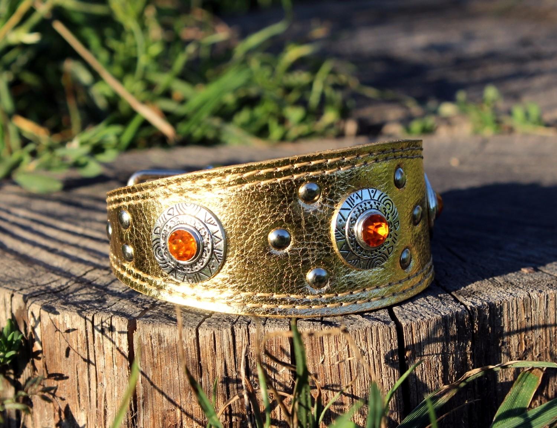 "SALE. Collar ""Golden simplicity"" size 20-23 cm"