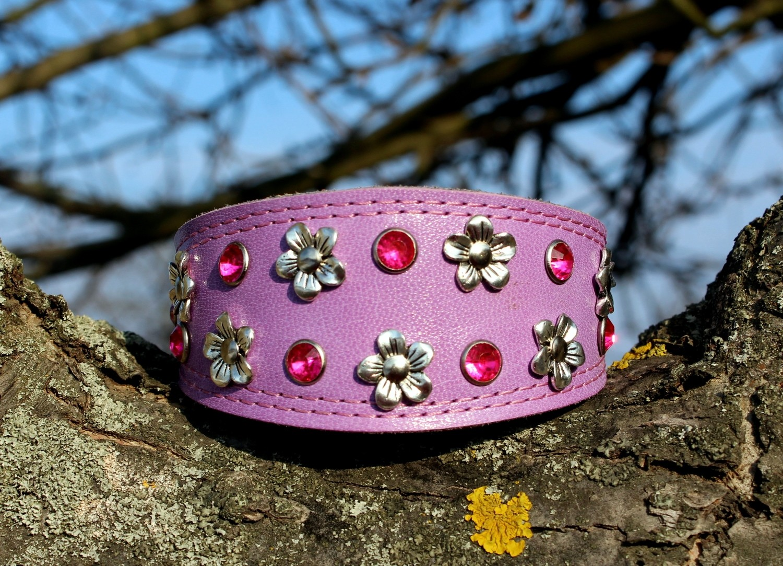 "Collar ""Little flowers"" lilac"