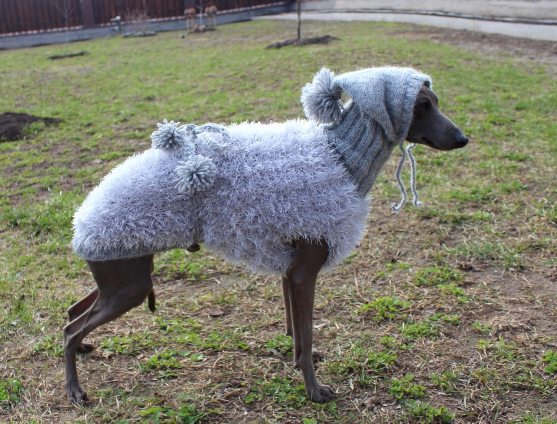 "SALE. Coat ""Sheep"" with hood grey 36-38 cm"