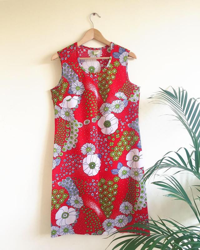 VINTAGE 1960S FLORAL PRINT SHIFT DRESS