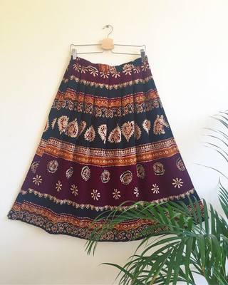 VINTAGE INDIAN PAISLEY PRINT SKIRT