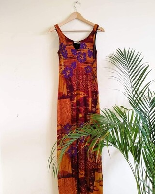 VINTAGE TROPICAL BEACH MAXI