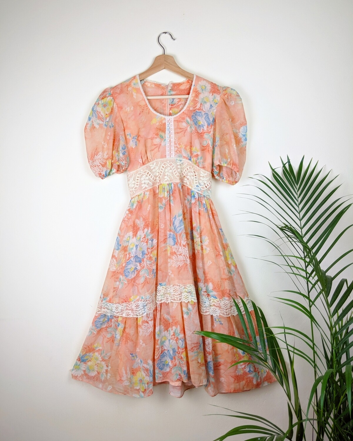 VINTAGE SWEET PEACHES MINI DRESS