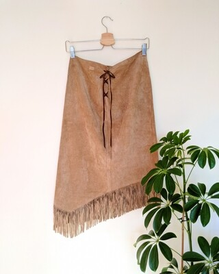 POCAHONTAS SUEDE FRINGED SKIRT