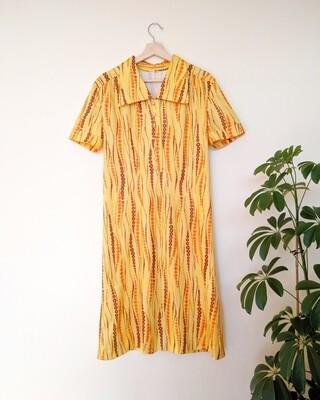 1970S MELLOW YELLOW DRESS