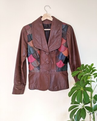 1970S PATCHWORK LEATHER JACKET