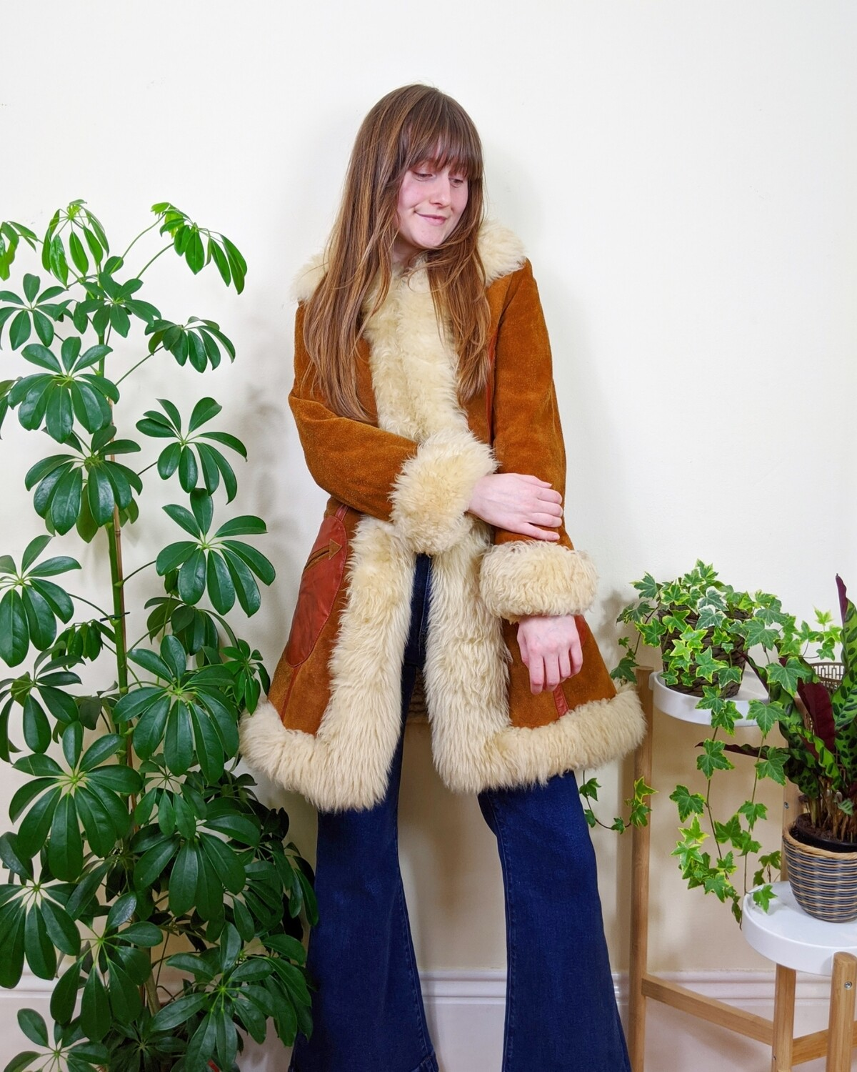 VINTAGE BURNT ORANGE SUEDE PENNY LANE COAT