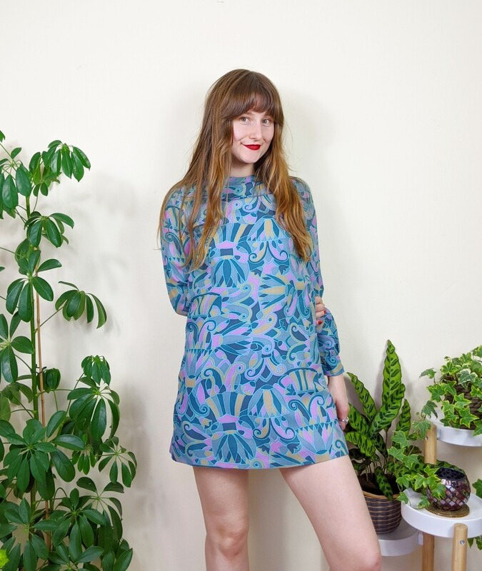 VINTAGE 1960S PSYCH MINI DRESS