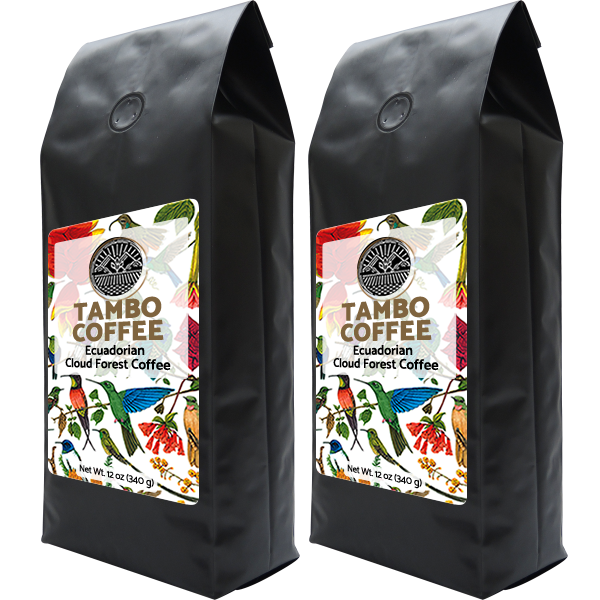 Coffee from Ecuadorian Cloud Forest - Combo Roast Whole Coffee Beans 00001