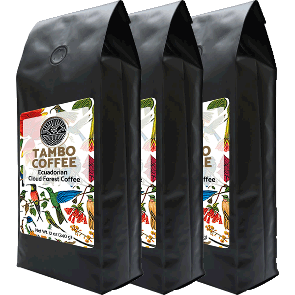 3-month subscription - Coffee from Ecuadorian Cloud Forest - Medium Roast Whole Coffee Beans S3M