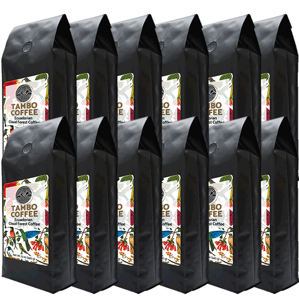 12-month subscription - Coffee from Ecuadorian Cloud Forest - Medium Roast Whole Coffee Beans
