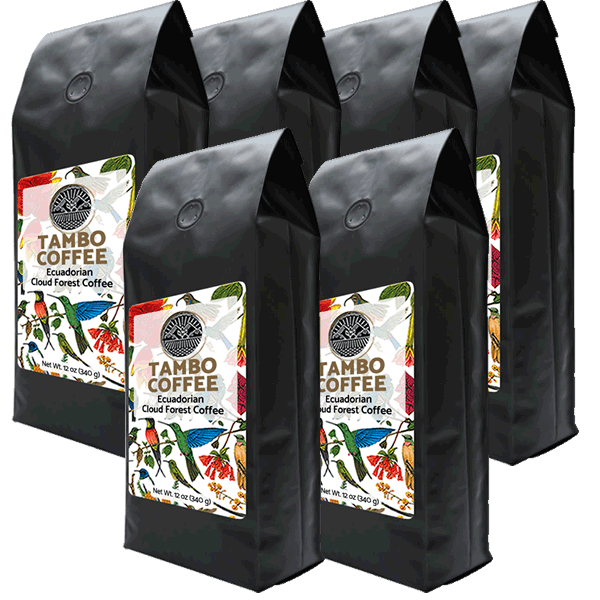 6-month subscription - Coffee from Ecuadorian Cloud Forest - Medium Roast Whole Coffee Beans S6M