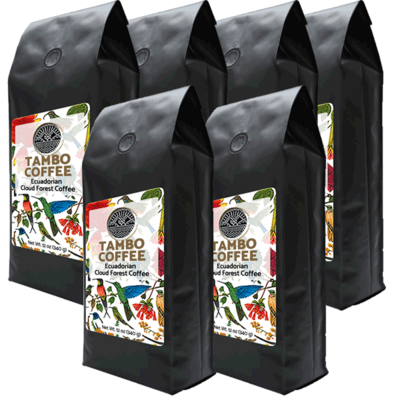 6-month subscription - Coffee from Ecuadorian Cloud Forest - Medium Roast Whole Coffee Beans