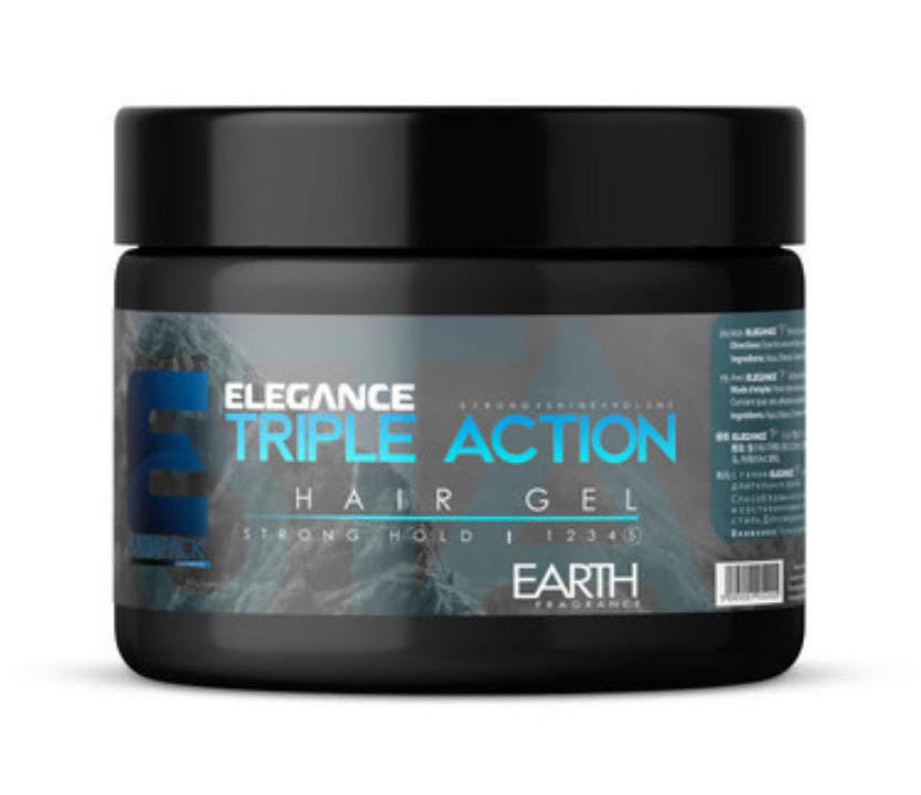 Triple Action Hair Gel Earth Fragrance (Strong Hold) - 250ml Elegance-Gel-Earth-Blue
