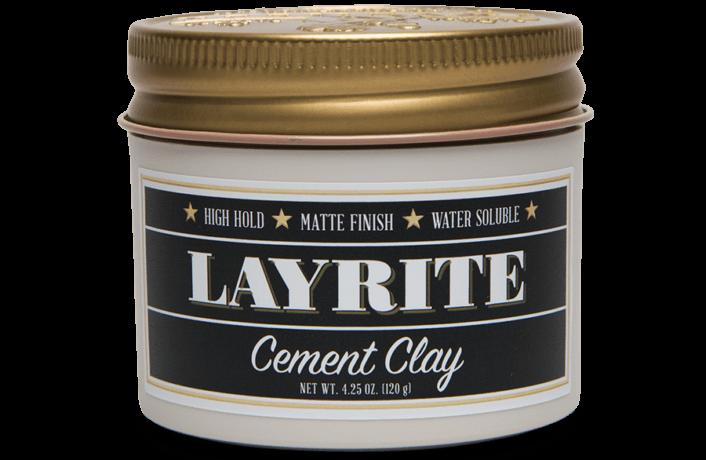 LAYRITE CEMENT HAIR CLAY - 4.25 OZ Layrite-cement-clay