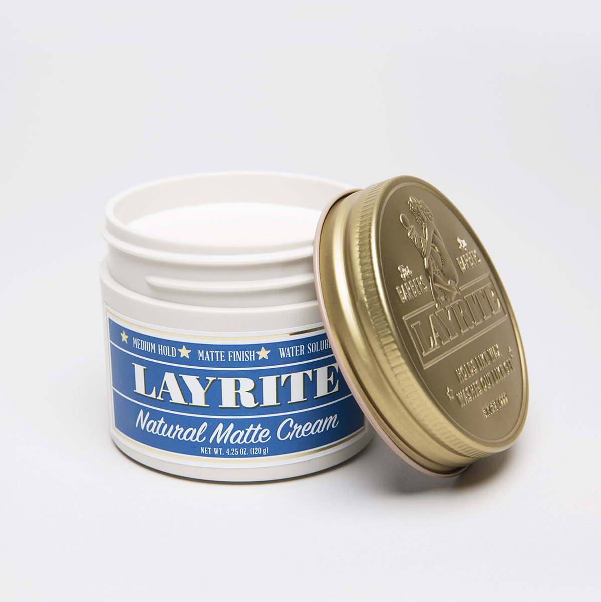 Layrite Natural Matte Cream Lid Open