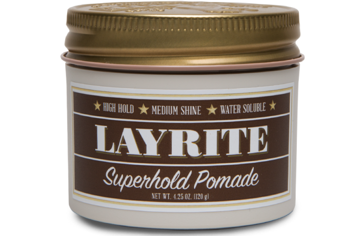 LAYRITE SUPERHOLD POMADE - 4.25 OZ Layrite-supershine-pomade