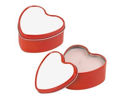 Svijeća u metalnoj kutijici - srce