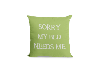 Sorry my bed needs me
