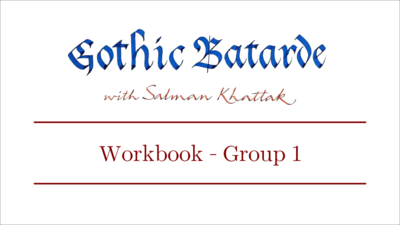 Gothic Batarde Workbook - Minuscules Group 1