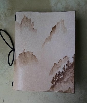 Customized Traveler's Notebook cover Passport size- Foggy Mountain