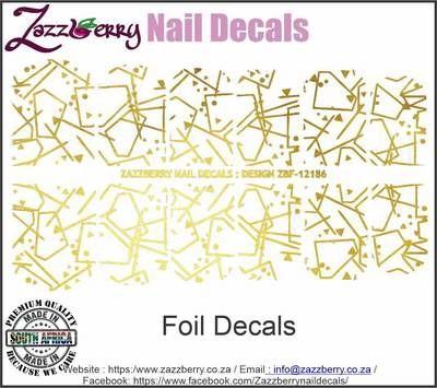 Foil Elegant Swirls Nail Decals