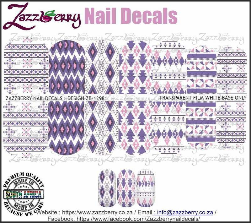 Aztec Purple Nail Decals