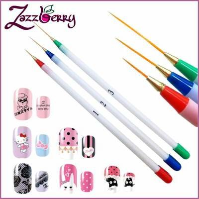 Striping Brushes - Different Sizes - 3pcs
