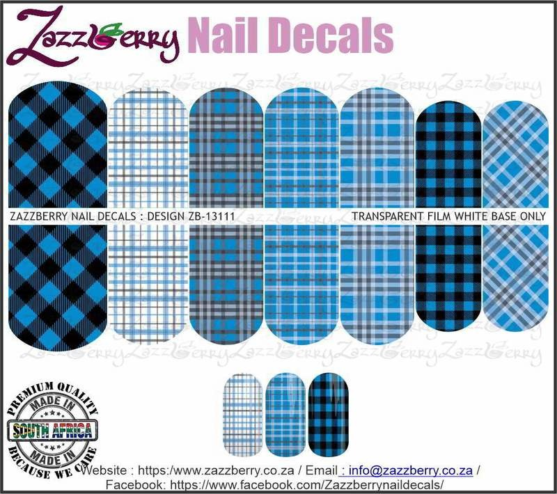 Blue and Black Plaid Mix