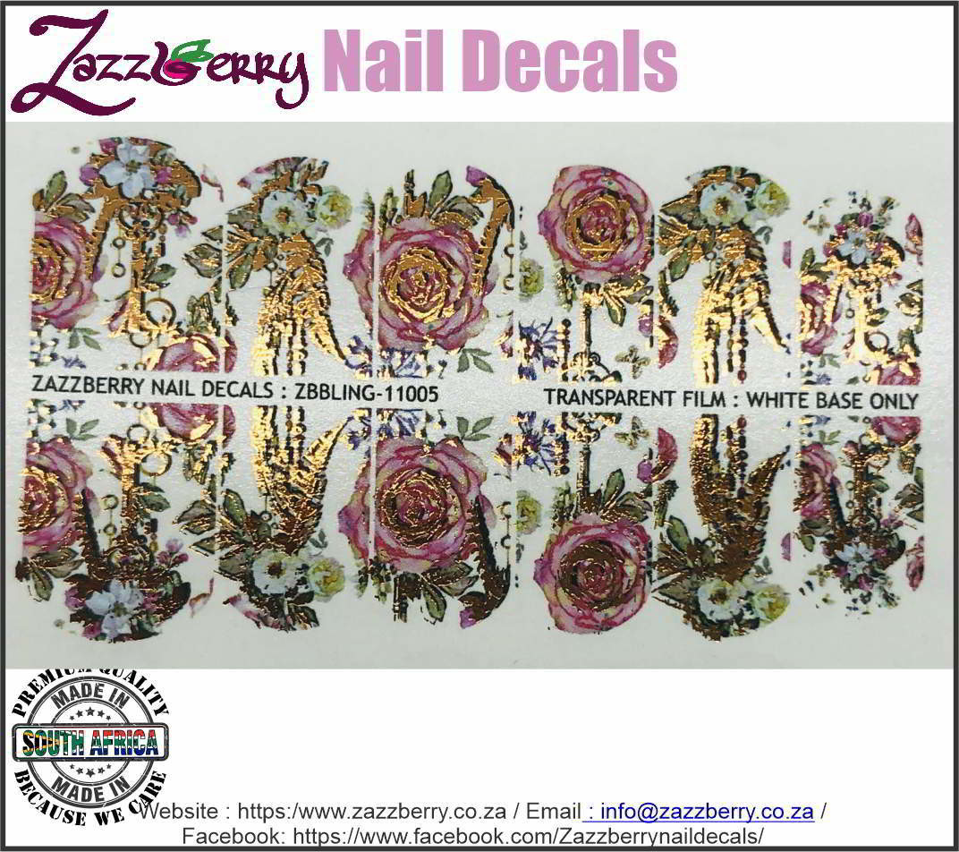 Roses Bohemian Style with Foil