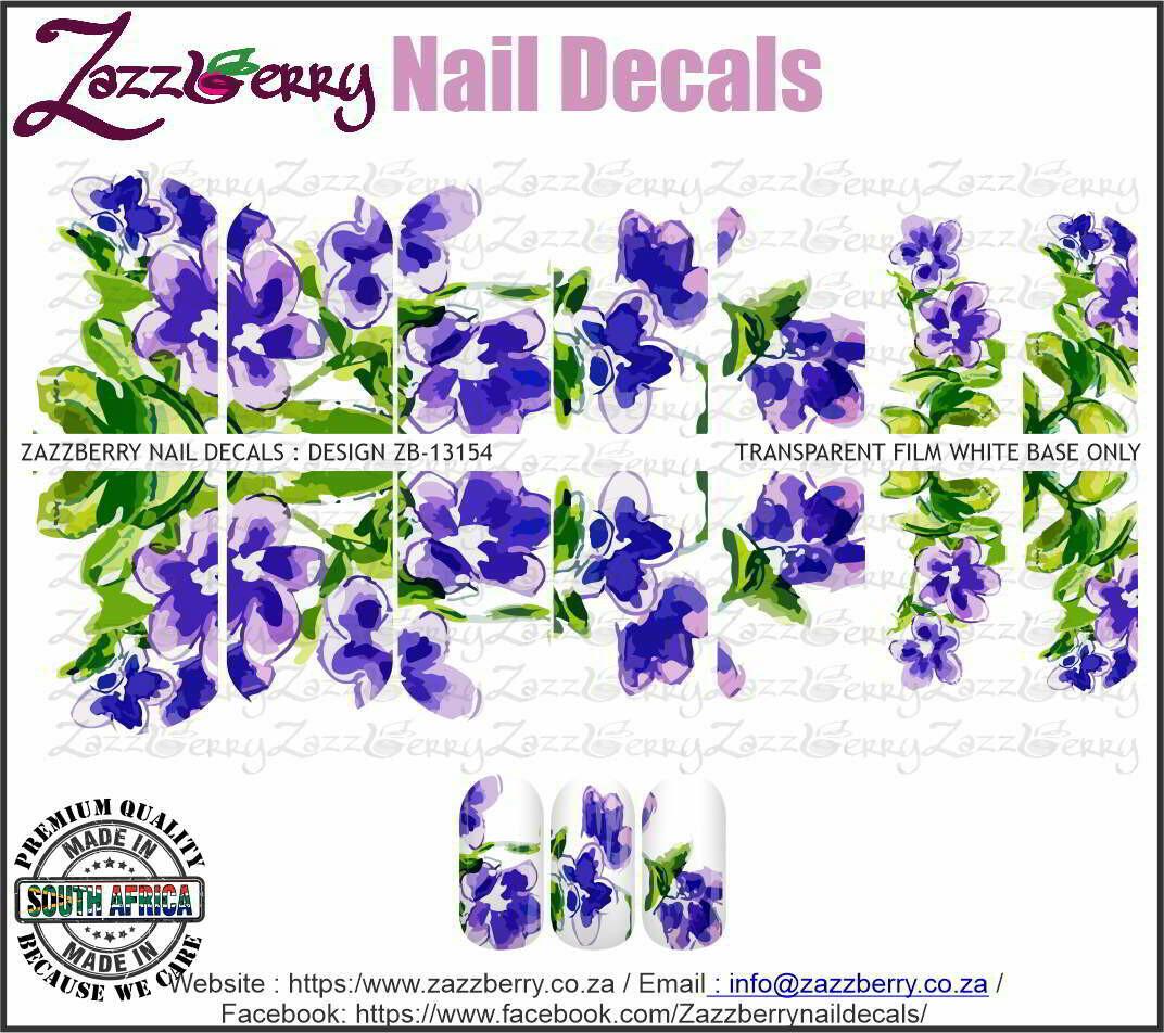 Hand Painted Purple/Blue Flowers