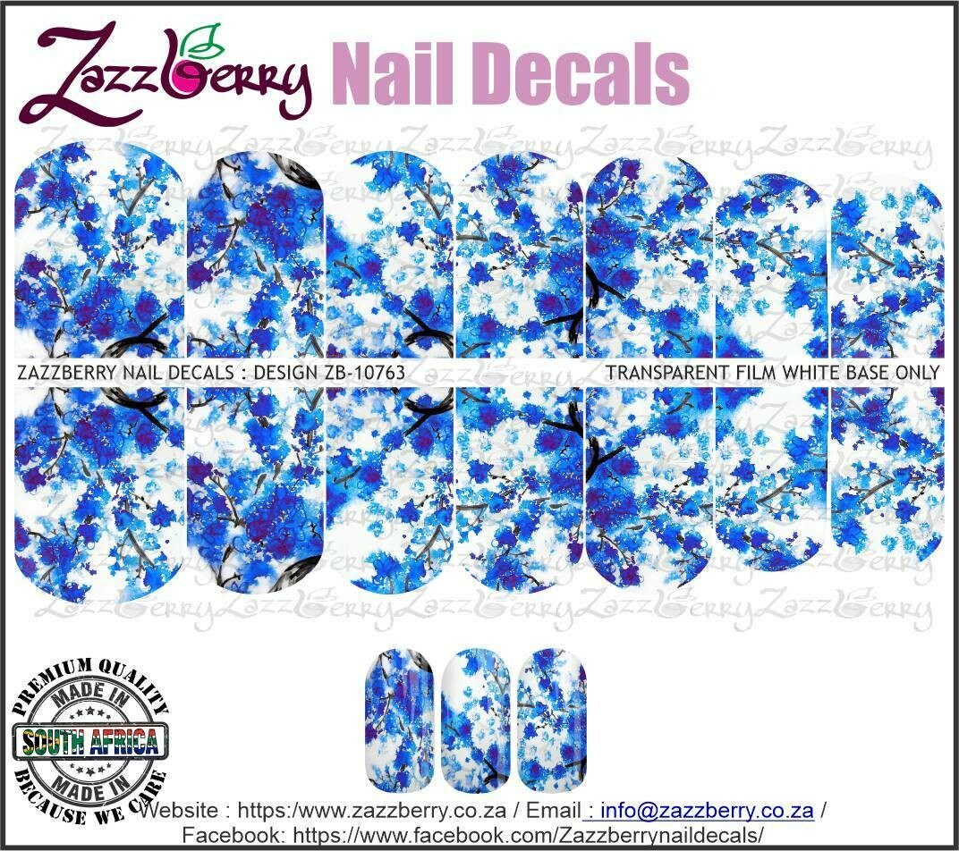 Blue Cherry Blossoms Watercolor