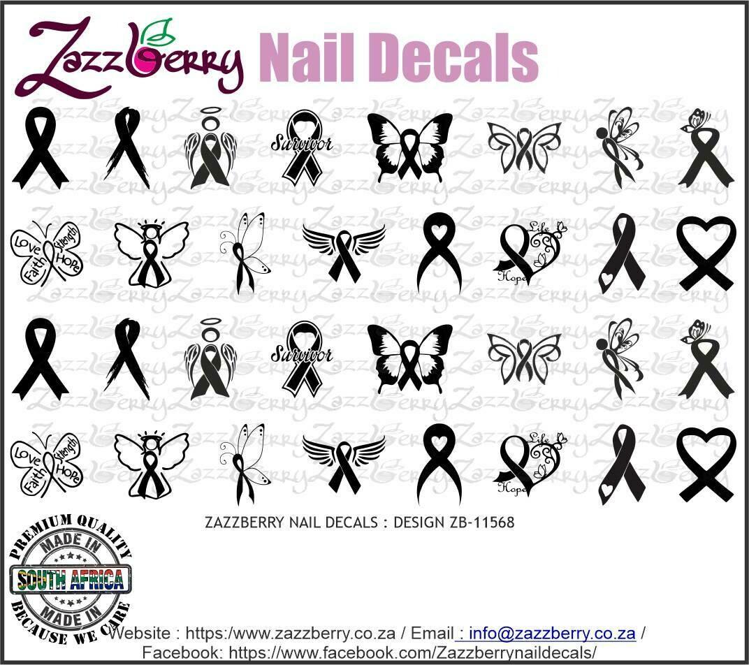Cancer Ribbons Black