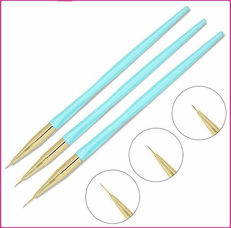 Striping Brushes - Blue 3 Piece