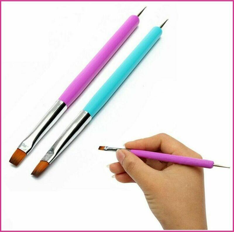 Nail Art : Dual Use Nail Art Brush with Dotting Pen