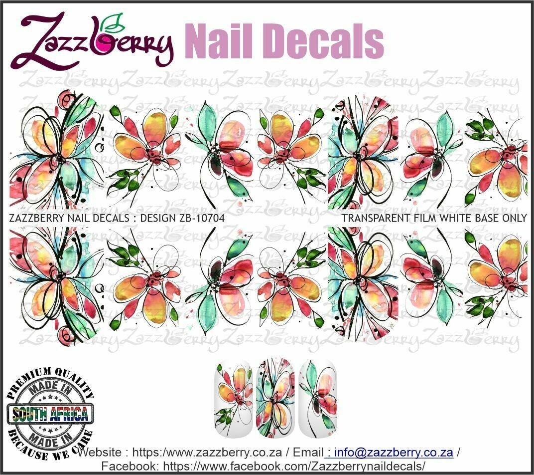Aquarelle Hand Drawn Flowers
