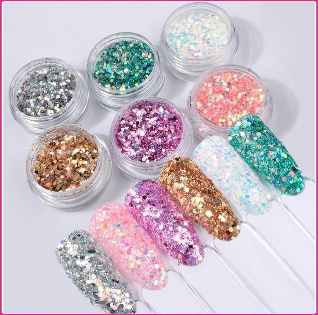 Sets : Magic glitter sequins 6pcs