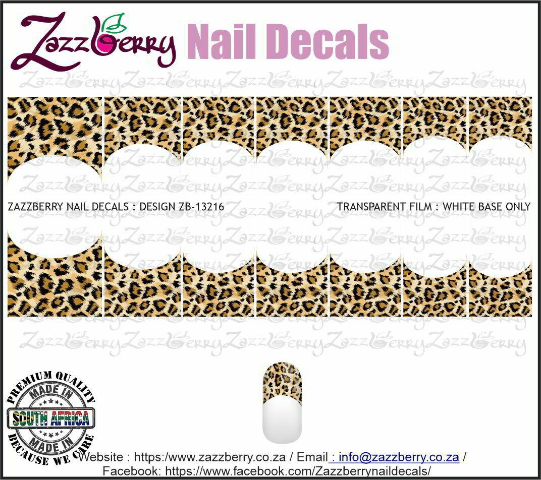 Leopard Skin French Manicure