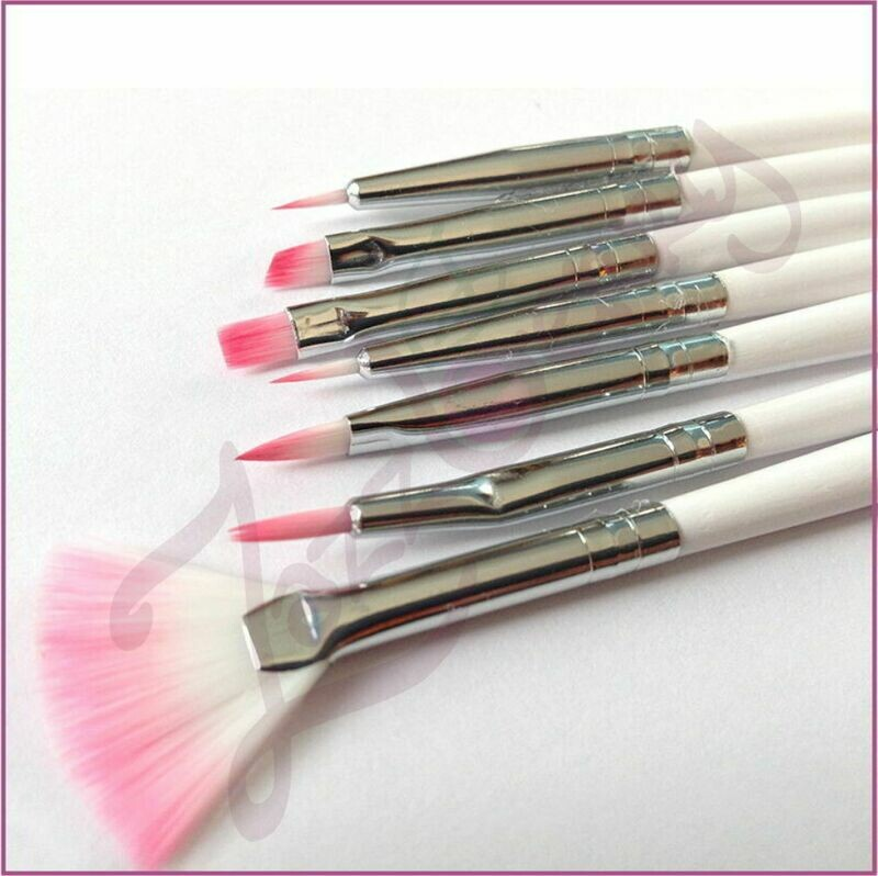 Manicure Brushes : 7pcs : Purple Feather