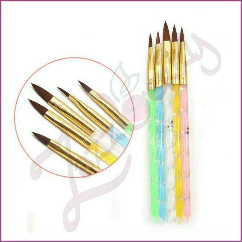 Acrylic Brush  : 5pcs