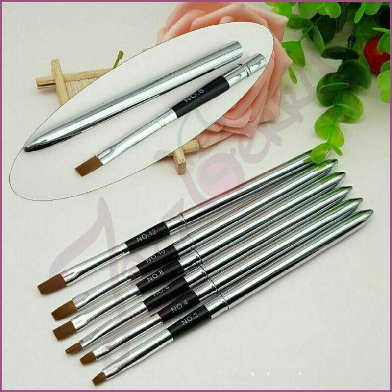 Gel Brush : Stainless Steel - 6pcs