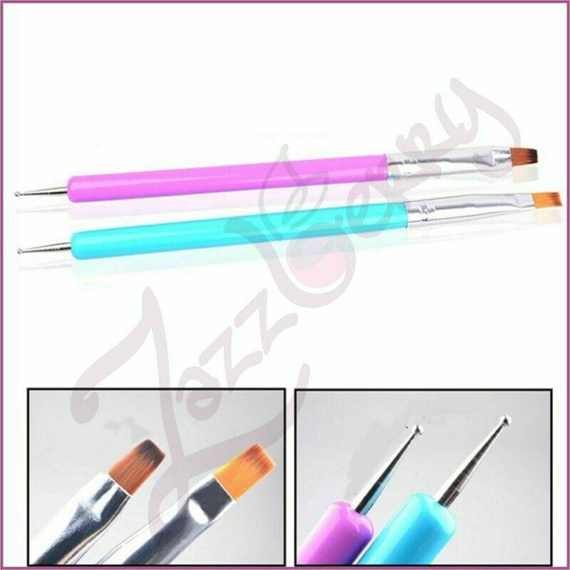 Dotting Tool :  Dual Use Nail Art Brush with Dotting Pen