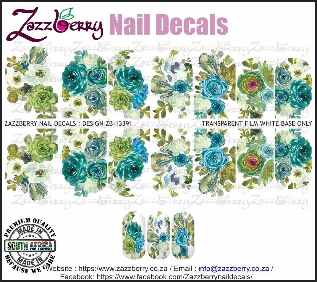 Turquoise Watercolor Succulents