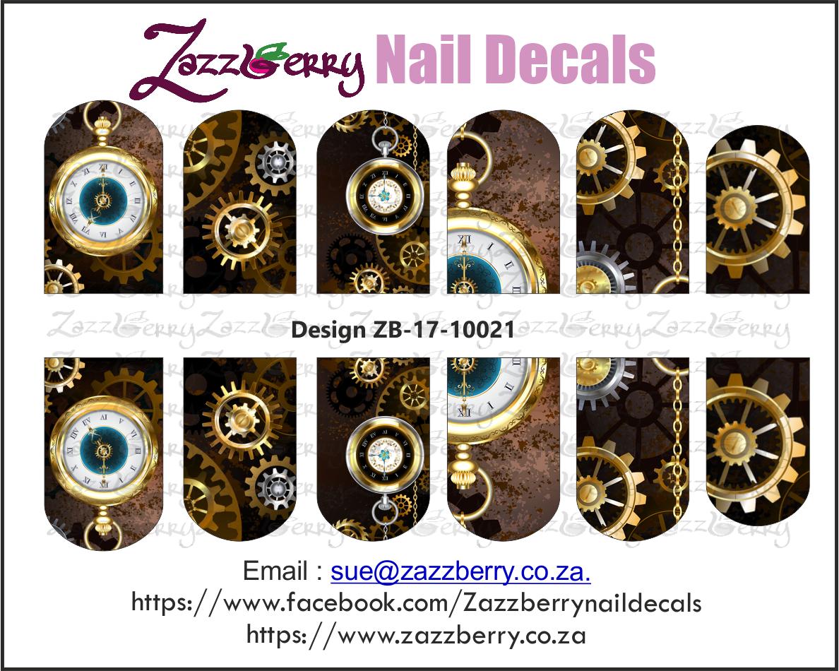 Steampunk Clocks Nail Wraps